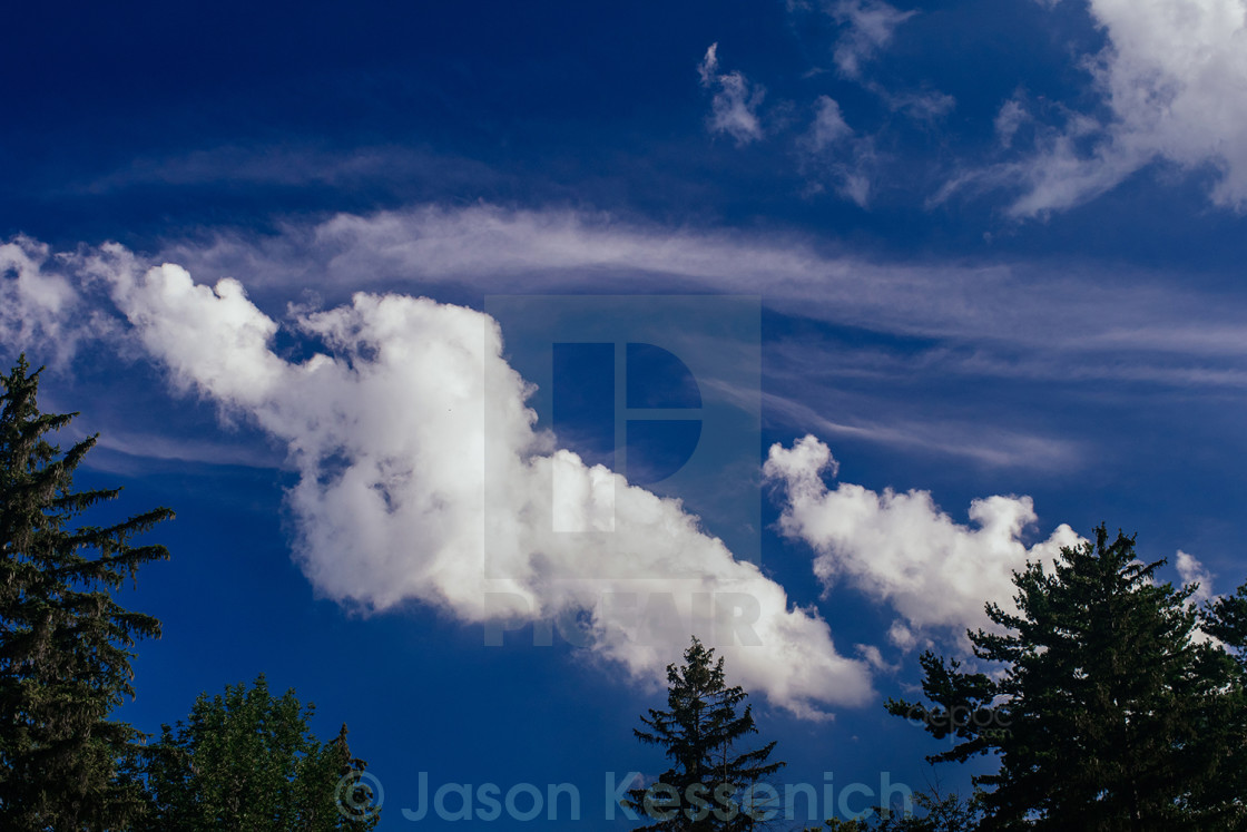 """""""Clouds on a summer day"""" stock image"""