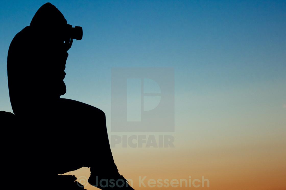 """Photographer Silhouette"" stock image"