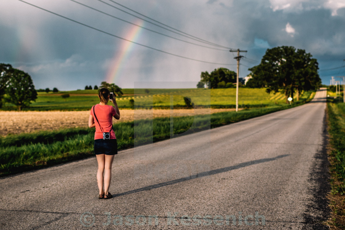 """Rainbow girl"" stock image"