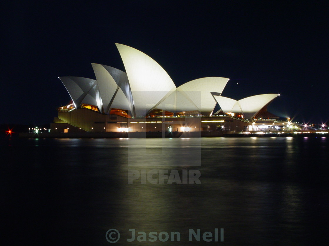 """Sydney Opera House by night"" stock image"