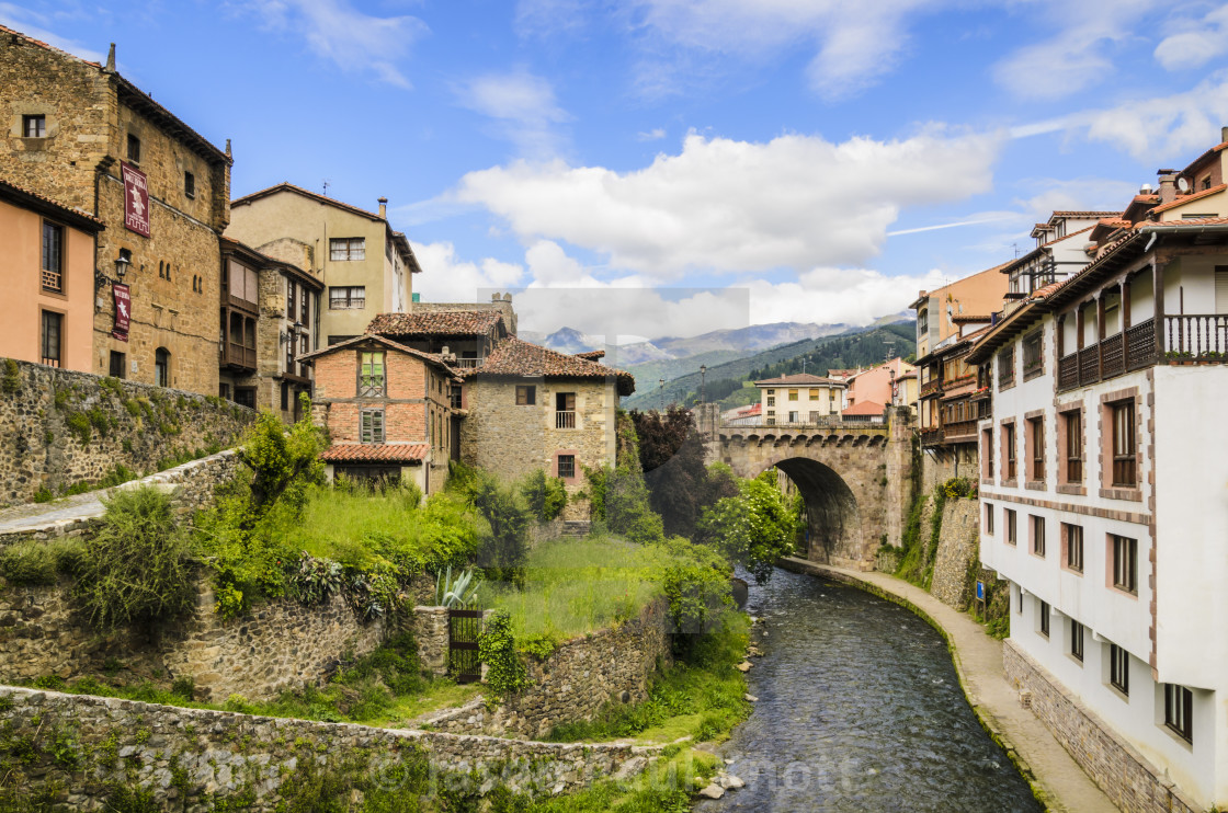 """""""Potes Town, Spain"""" stock image"""