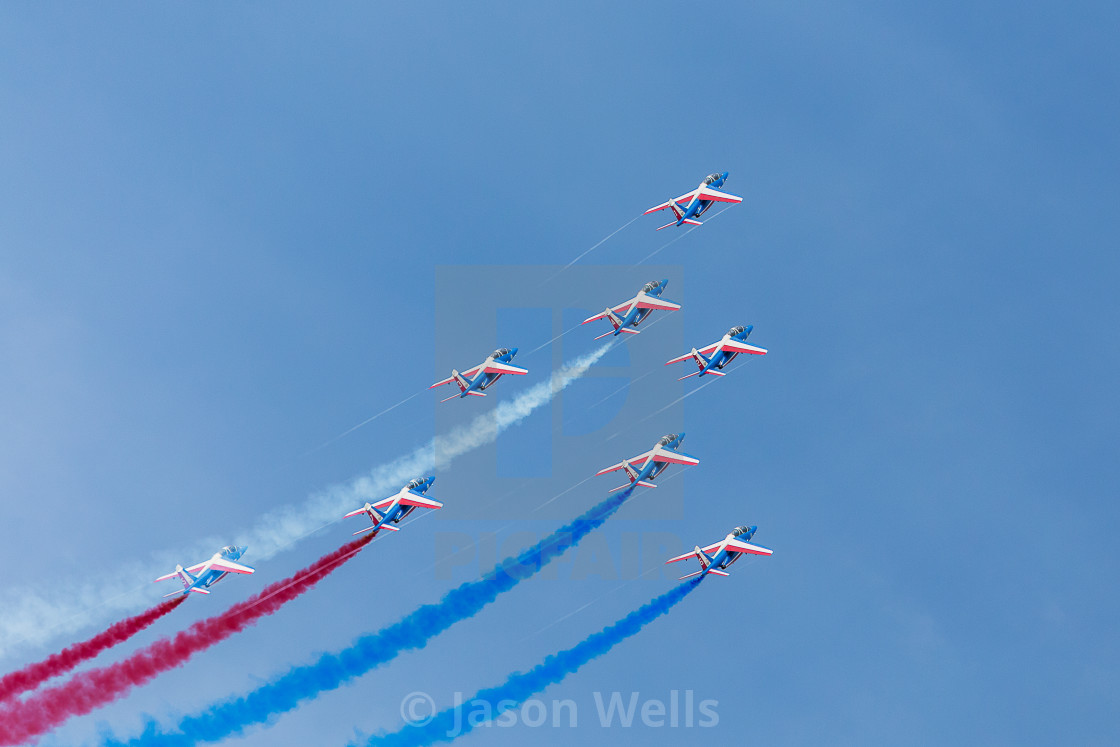 """Patrouille de France in formation"" stock image"
