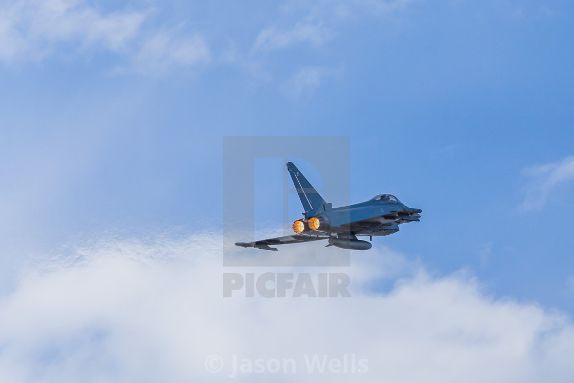 """Typhoon climbing with reheat"" stock image"