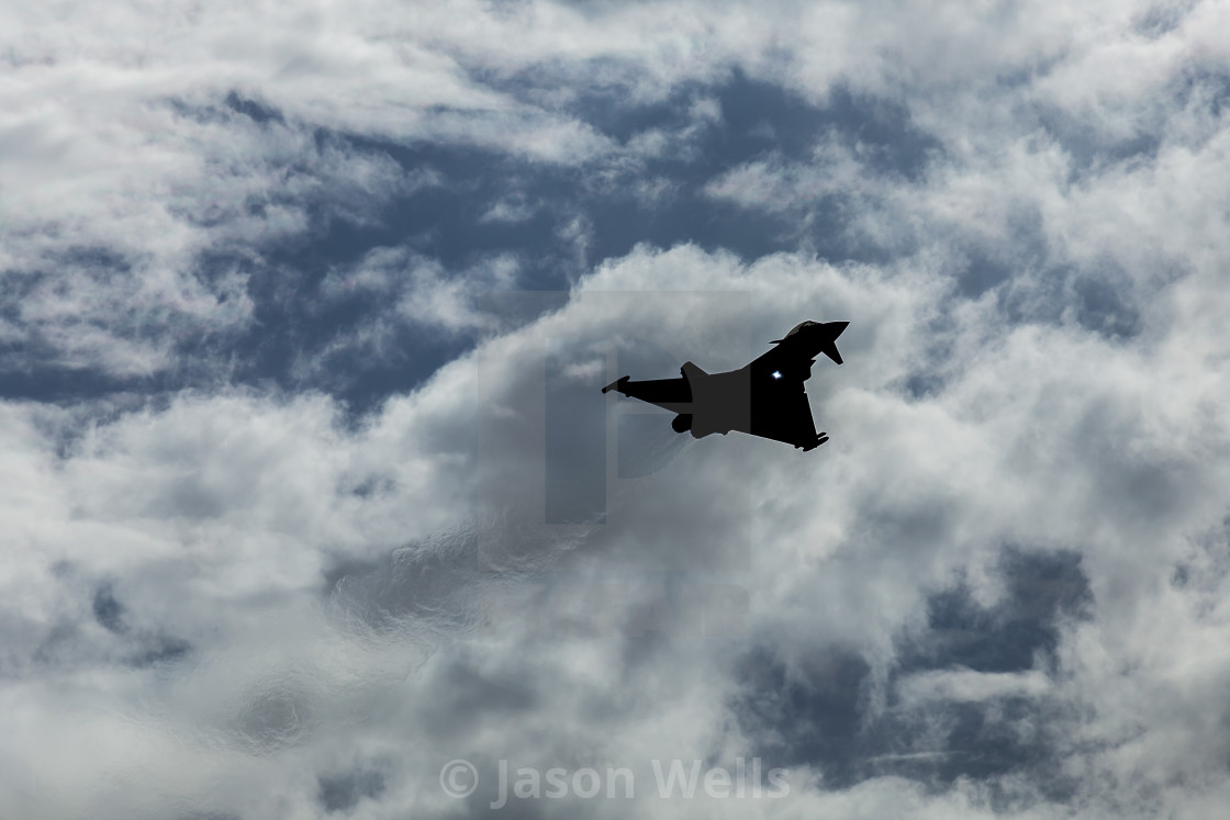 """""""Silhouette of the Typhoon"""" stock image"""