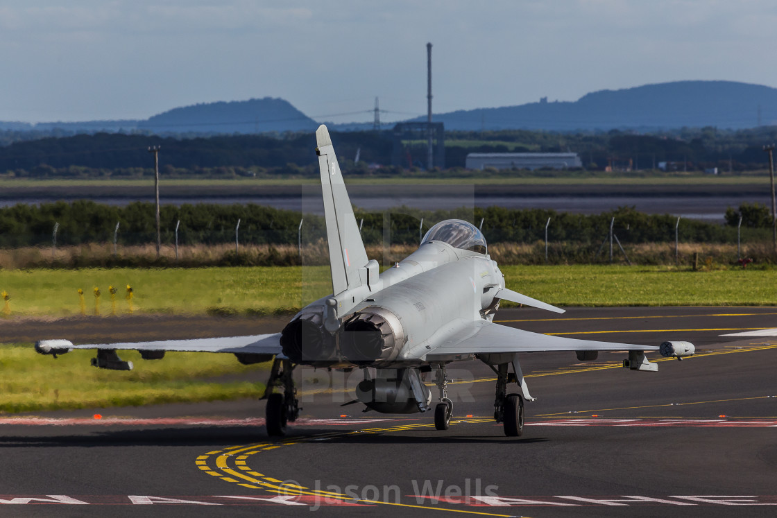 """""""Typhoon taxiing out"""" stock image"""