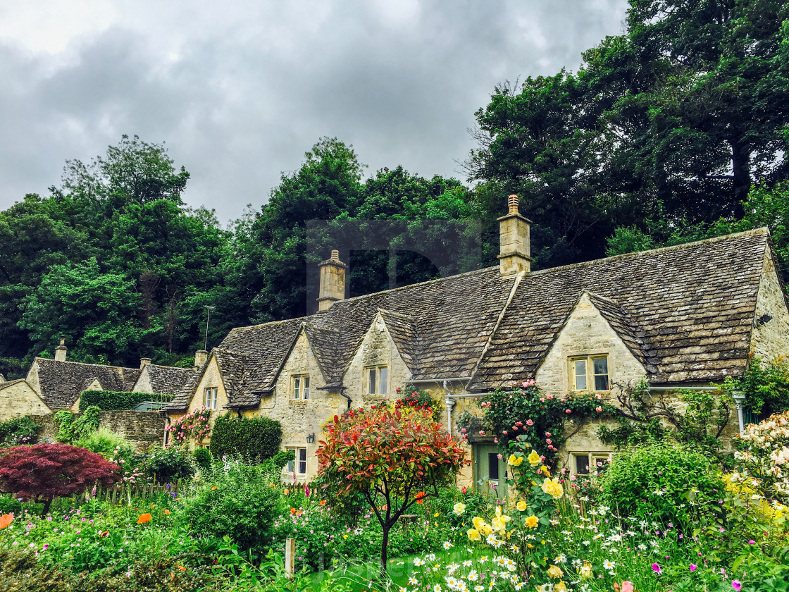 """""""Houses from Cotswold (Part 1)"""" stock image"""