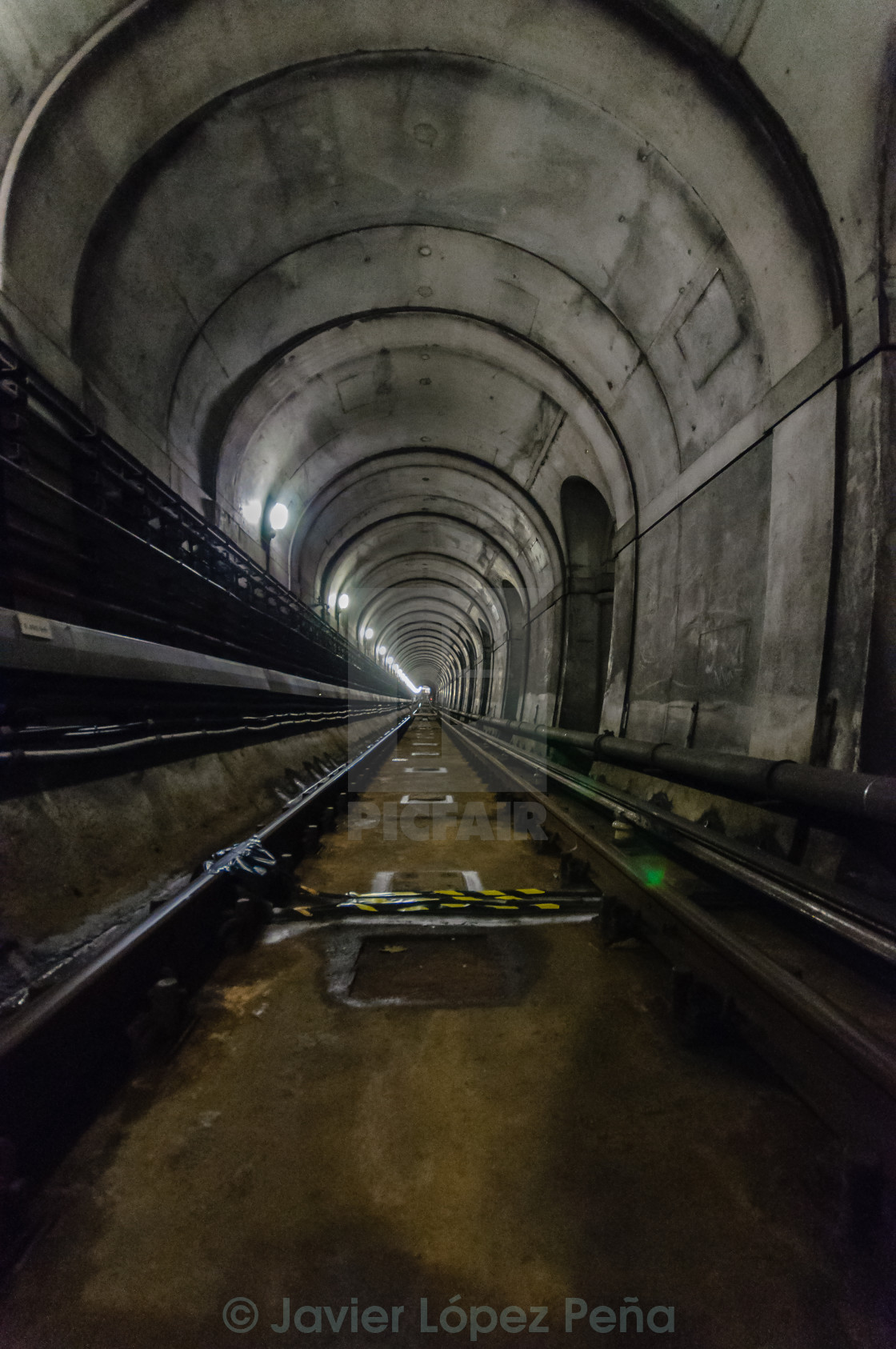 """Train tunnel"" stock image"