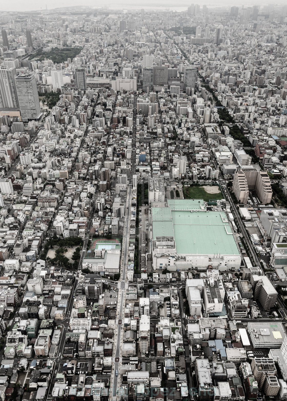 """Tokyo from the air"" stock image"