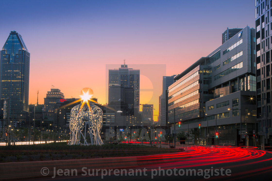 """Montreal downtown"" stock image"