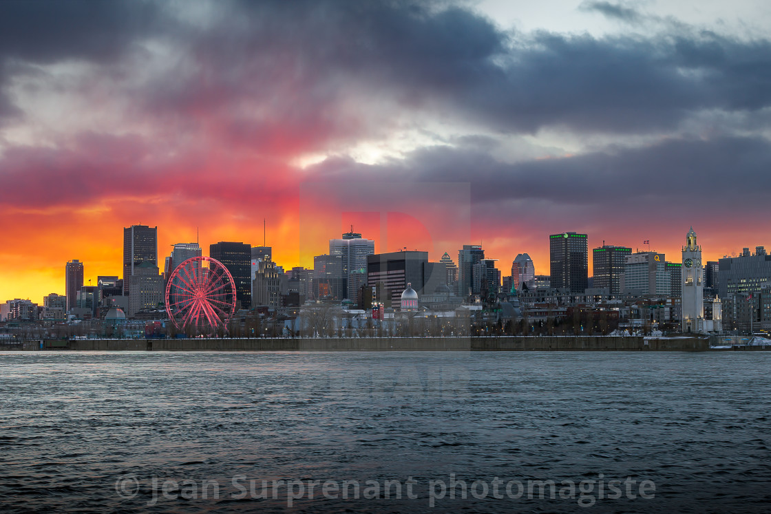 """Montreal late sunset."" stock image"