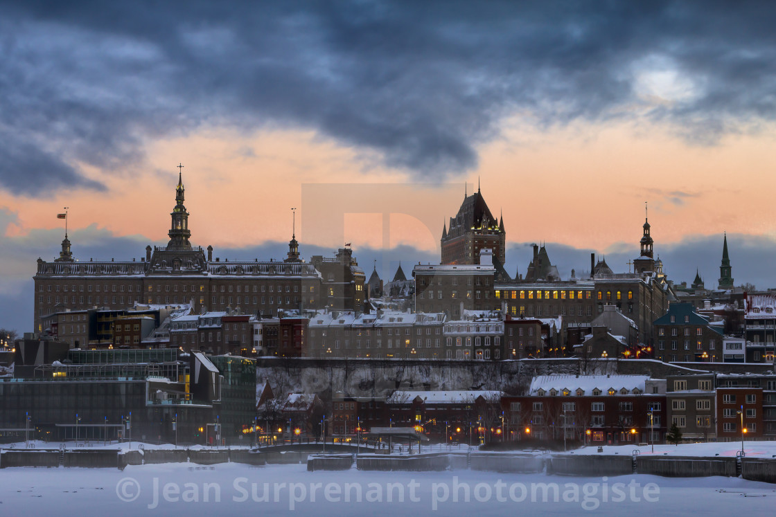"""Quebc city after a snowstorm."" stock image"