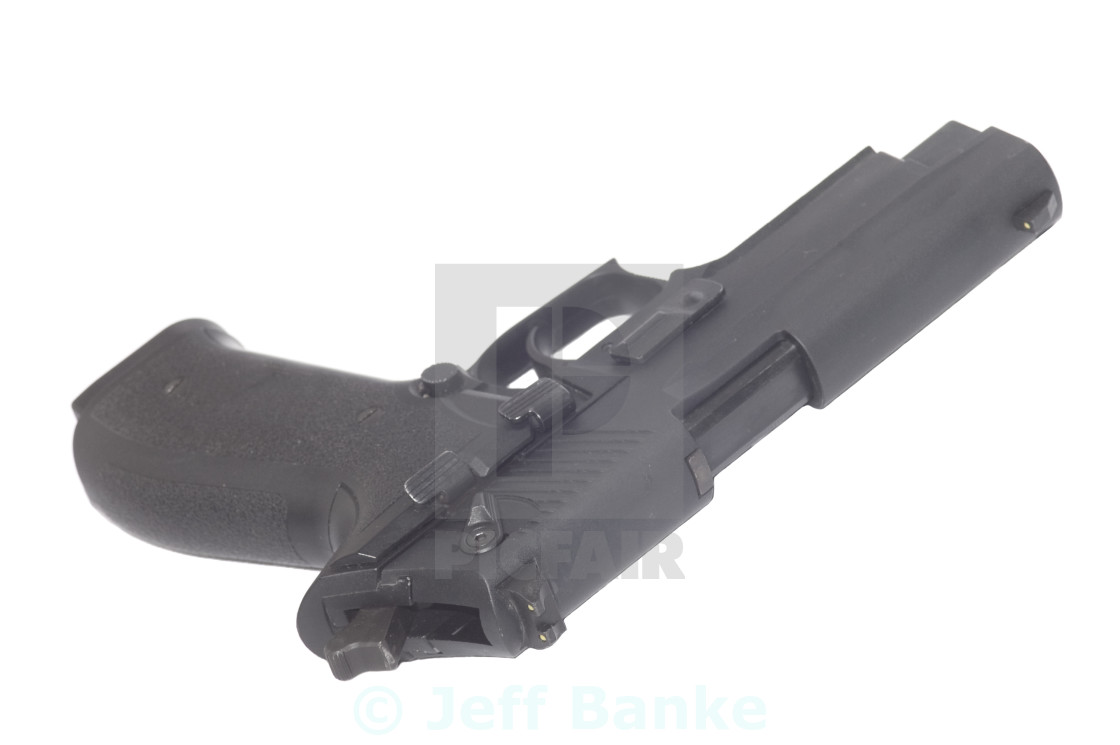 """Semi automatic pistol"" stock image"