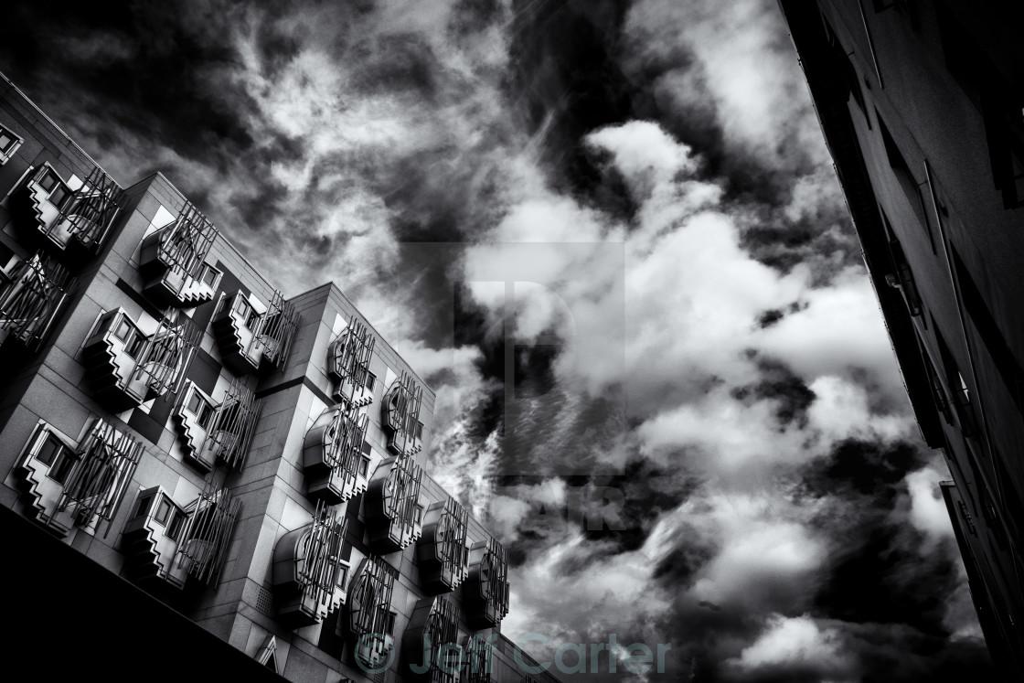 """Scottish Parliament Building, Edinburgh"" stock image"