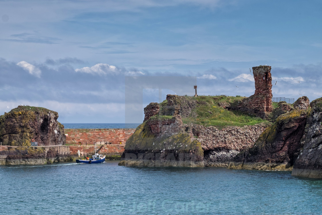 """Dunbar Harbour Entrance"" stock image"