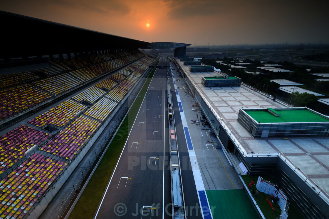 """Shanghai International Circuit"" stock image"