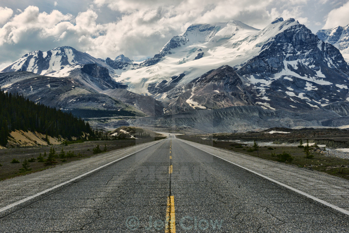 """Drive to the Mountains"" stock image"