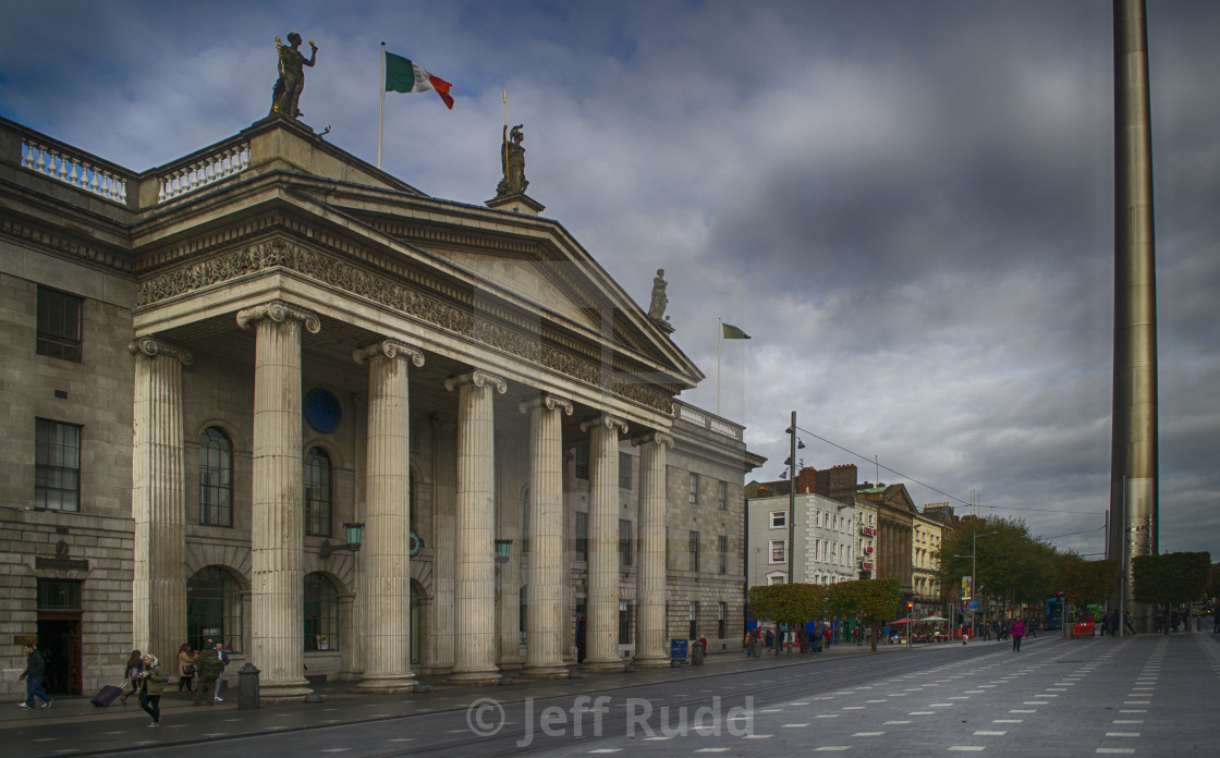 """The General Post Office, Dublin."" stock image"