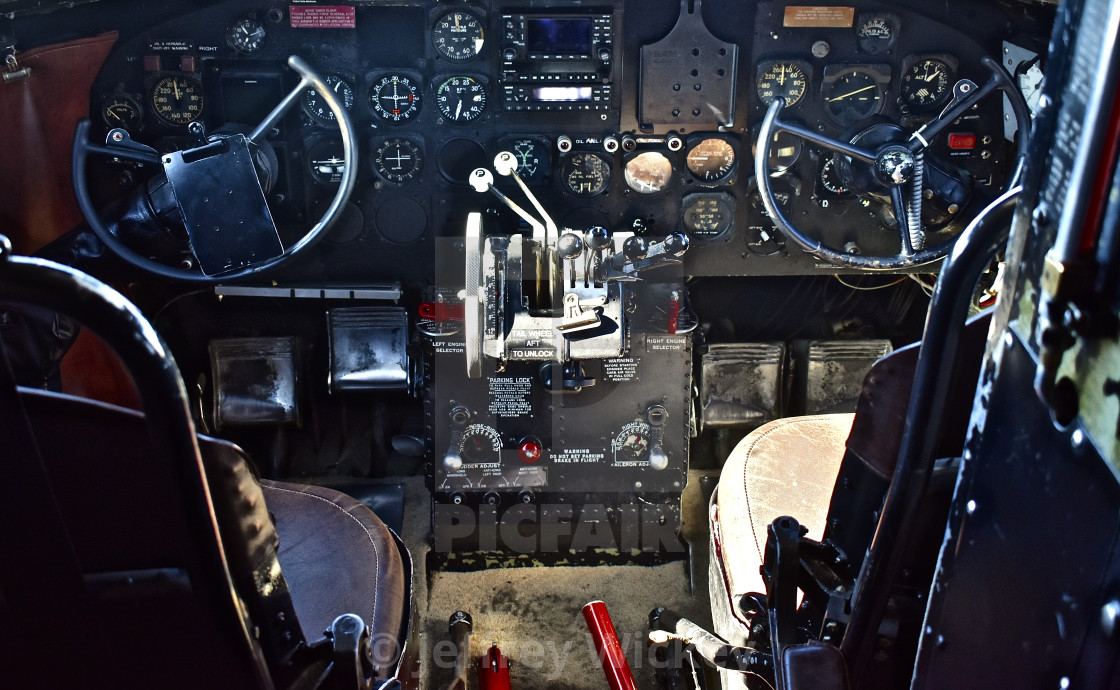 C-47 Cockpit - License, download or print for £49 58 | Photos | Picfair