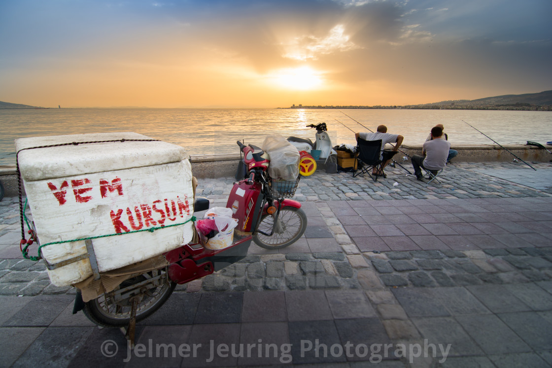 """Izmir sunset"" stock image"