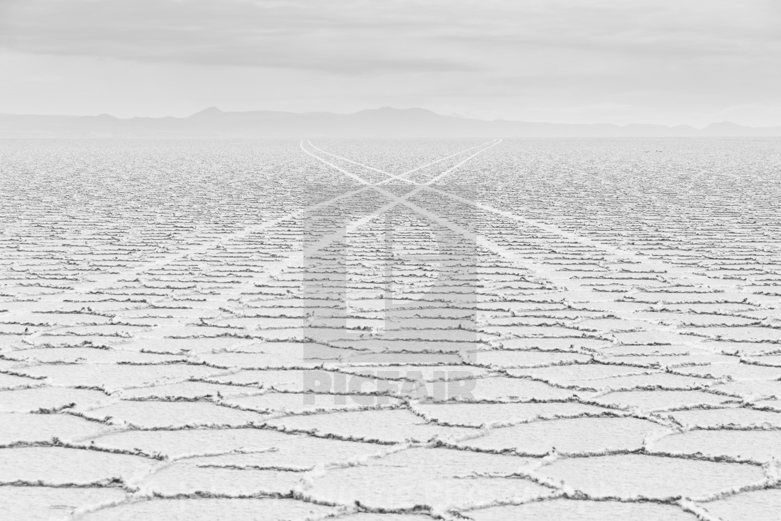 """Salt flat crossing"" stock image"
