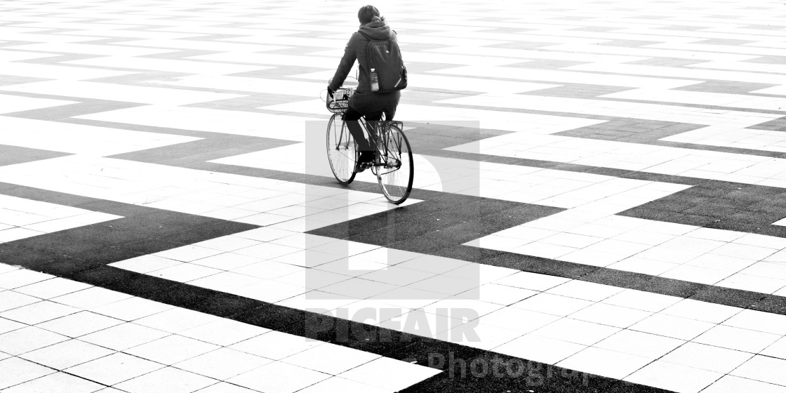 """Cycling into eternity"" stock image"