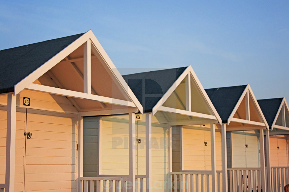 """Beach Huts!"" stock image"