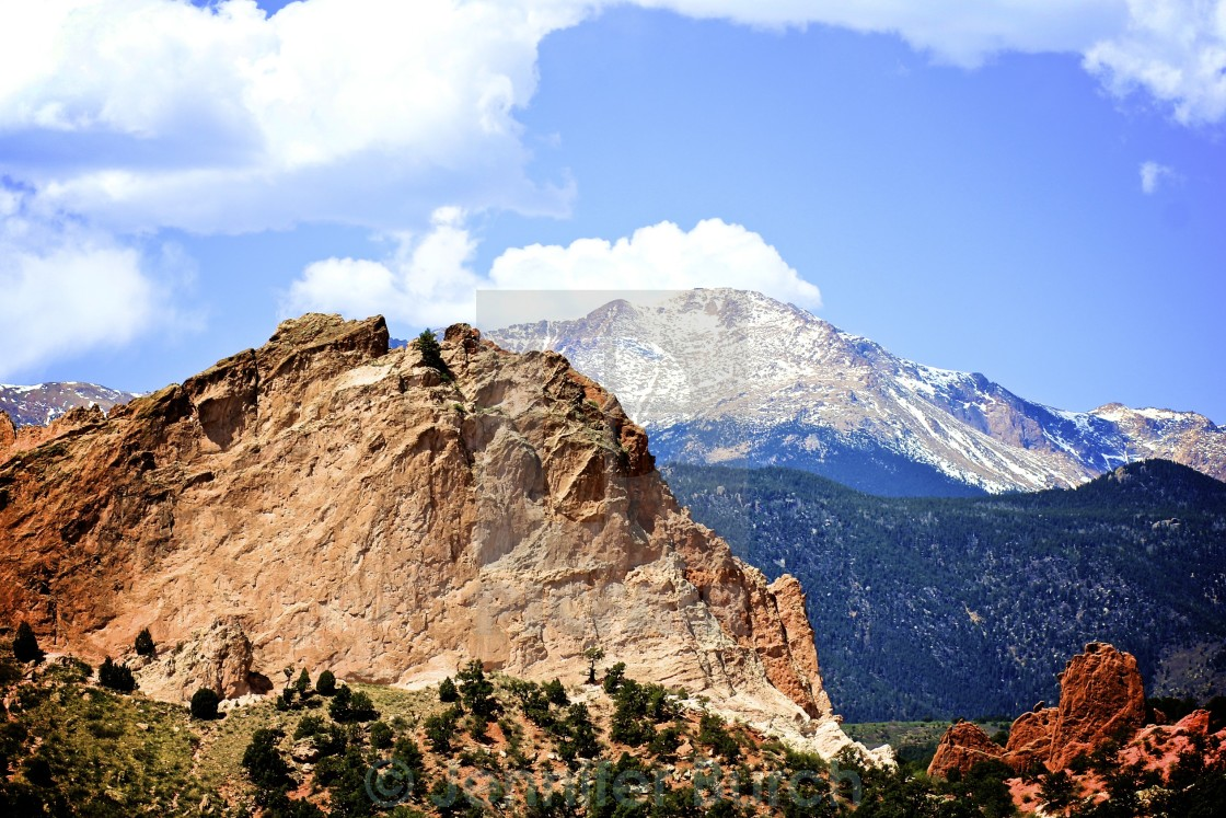 """Pikes Peak"" stock image"