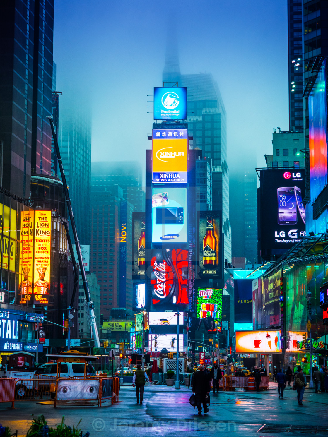 """Times Square at sunrise"" stock image"