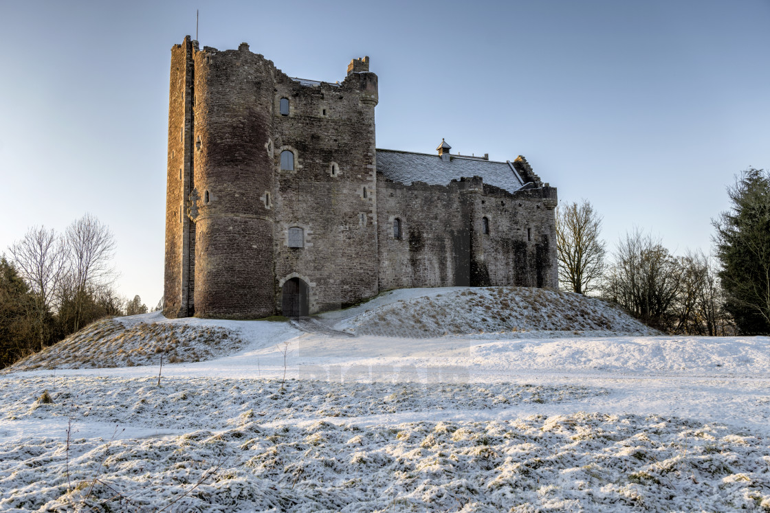"""Doune Castle in Scotland"" stock image"