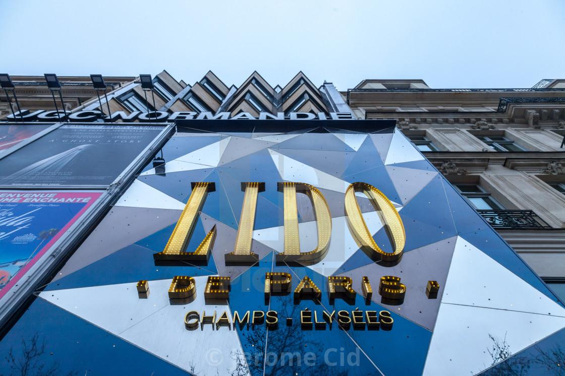 PARIS, FRANCE - DECEMBER 20, 2017: Logo of Lido de Paris club on their  main... - License, download or print for £1.49 | Photos | Picfair