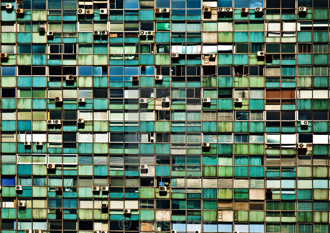 """Details of an Old Office Building in Montevideo, Uruguay"" stock image"