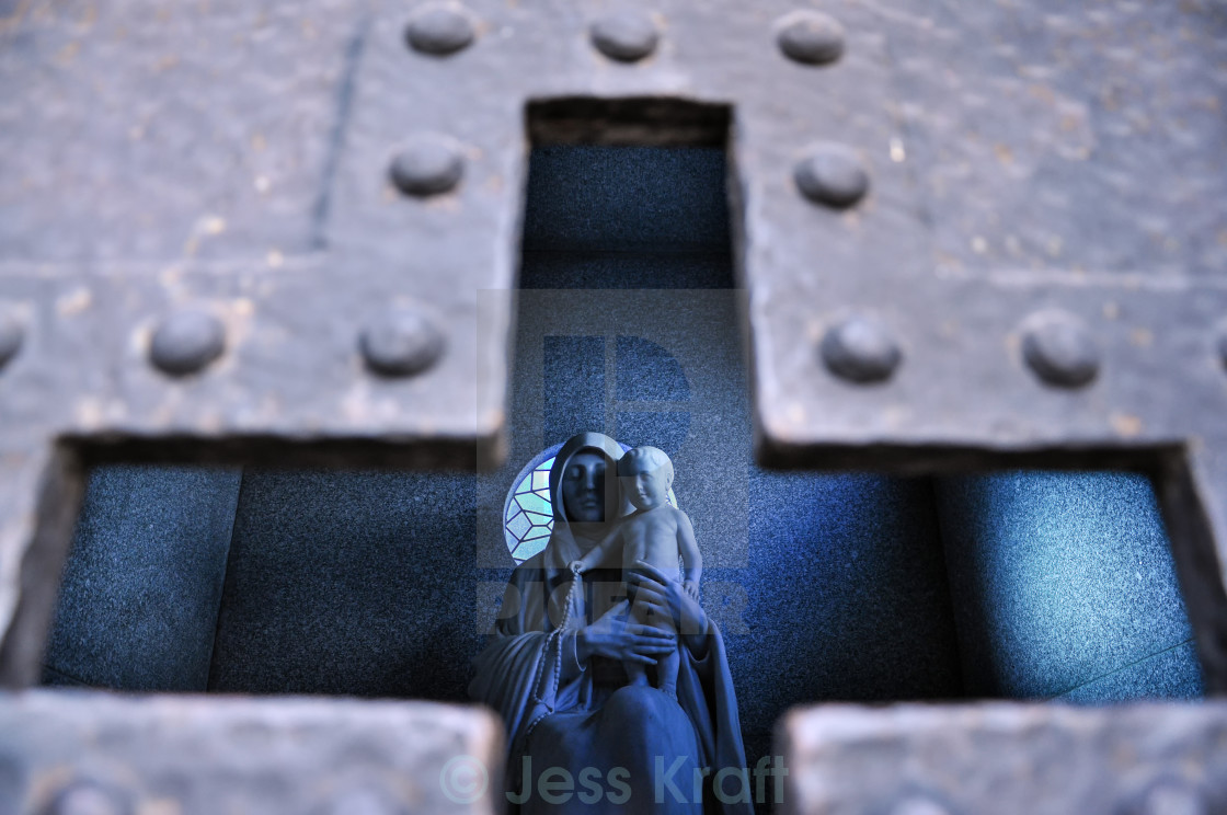 """Religious Statue in a Tomb"" stock image"