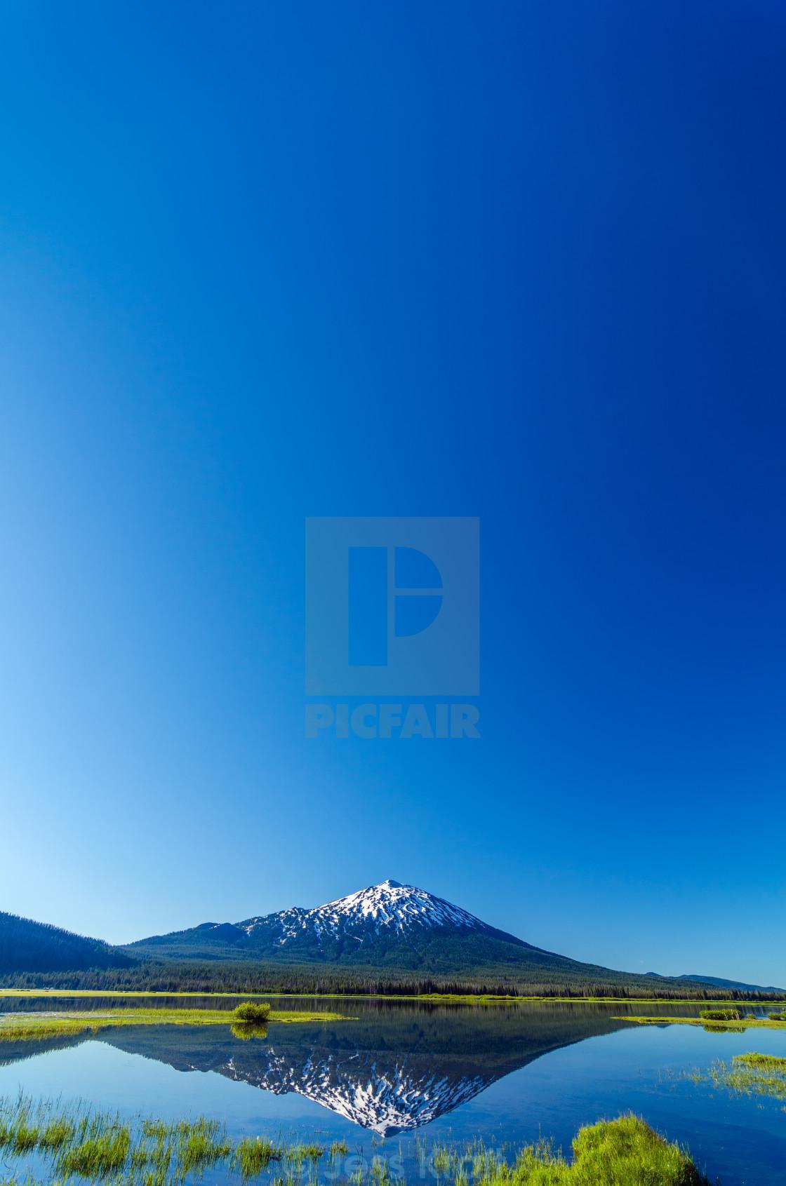 """""""Mount Bachelor and Sky"""" stock image"""