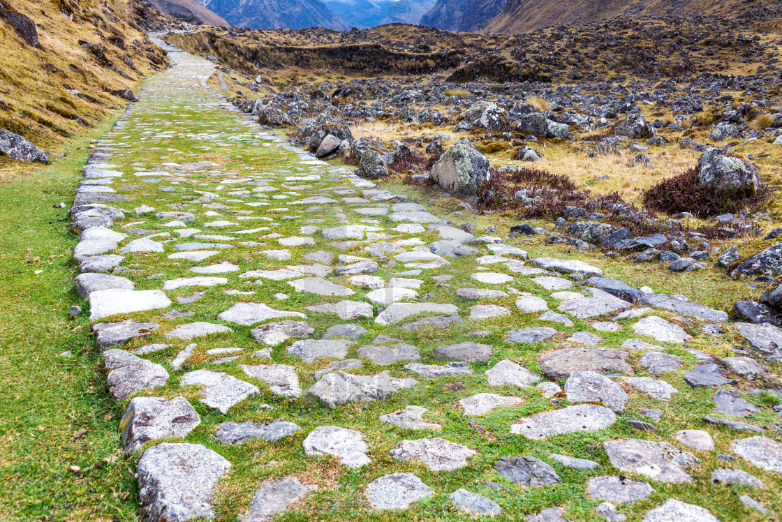 """""""Paved Incan Road"""" stock image"""