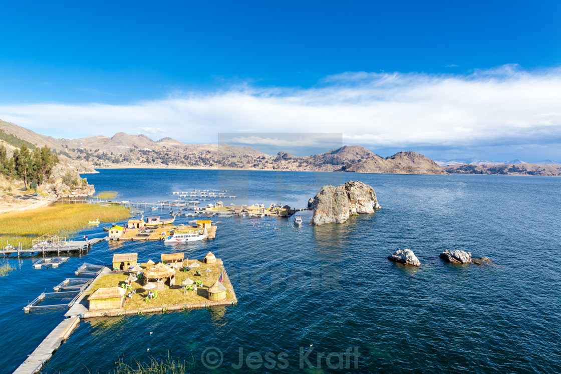 """Lake Titicaca Floating Islands"" stock image"
