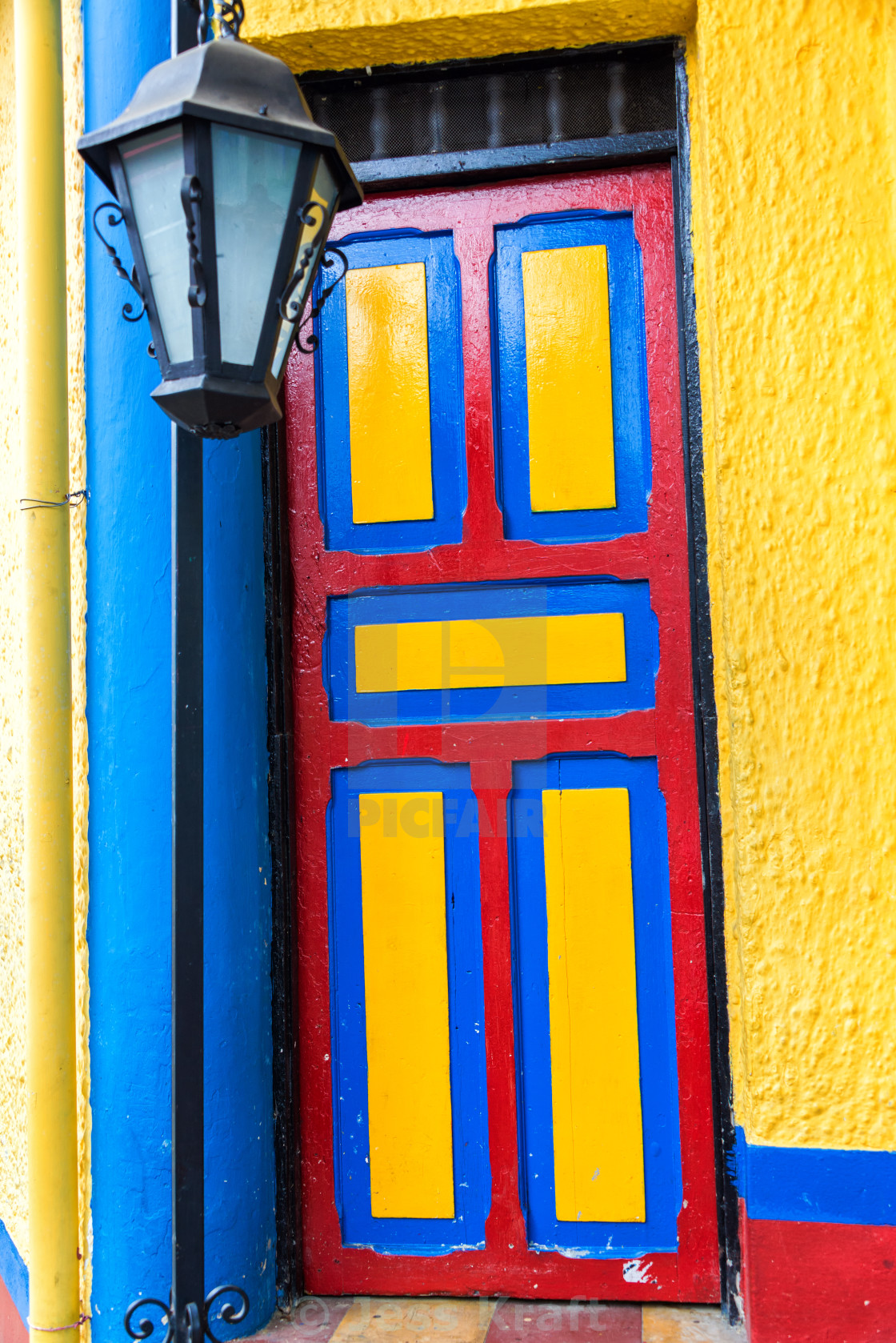 """Colorful Door"" stock image"