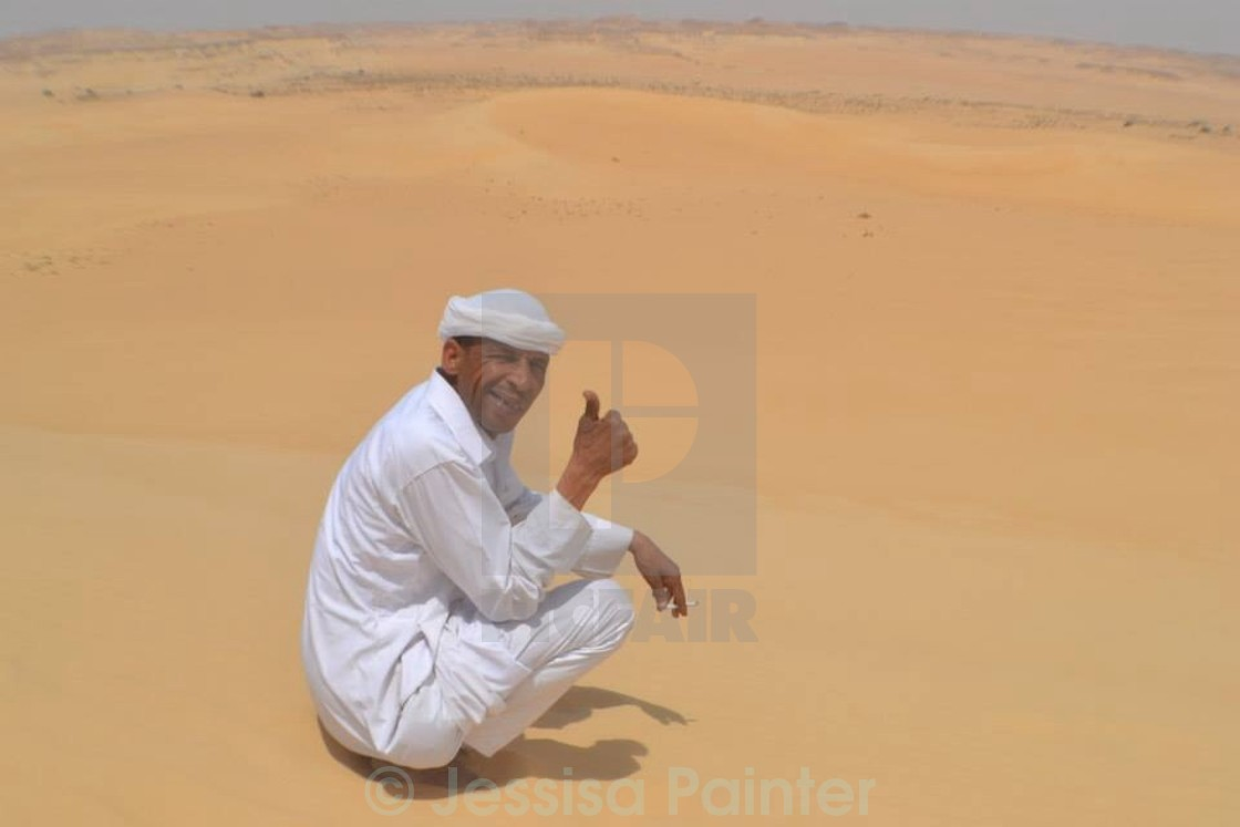 """Local in Siwa"" stock image"