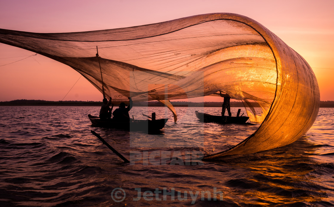 """fishing net gone with the wind"" stock image"