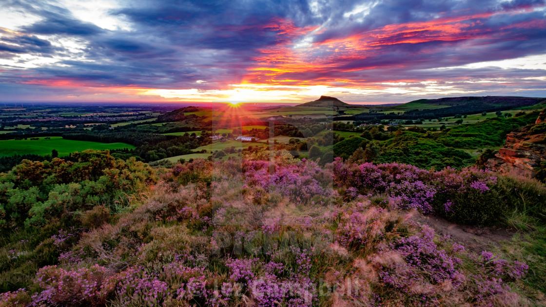 """""""Roseberry Topping Sunset"""" stock image"""