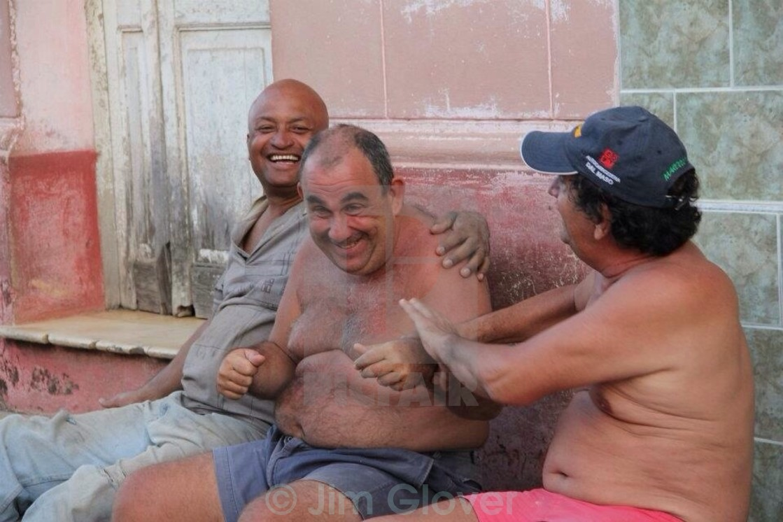 """Men in street in Trinidad, Cuba"" stock image"