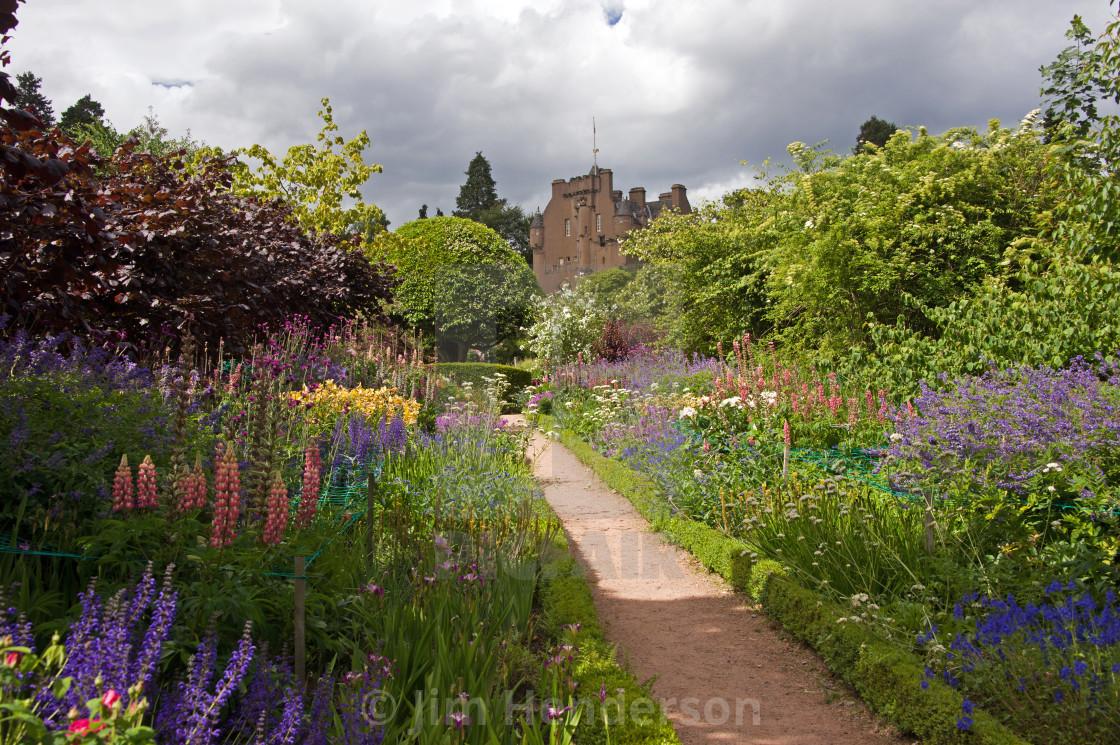 Crathes Castle Gardens June Border Poor Quality Grey Clouds 2017 Summer License For