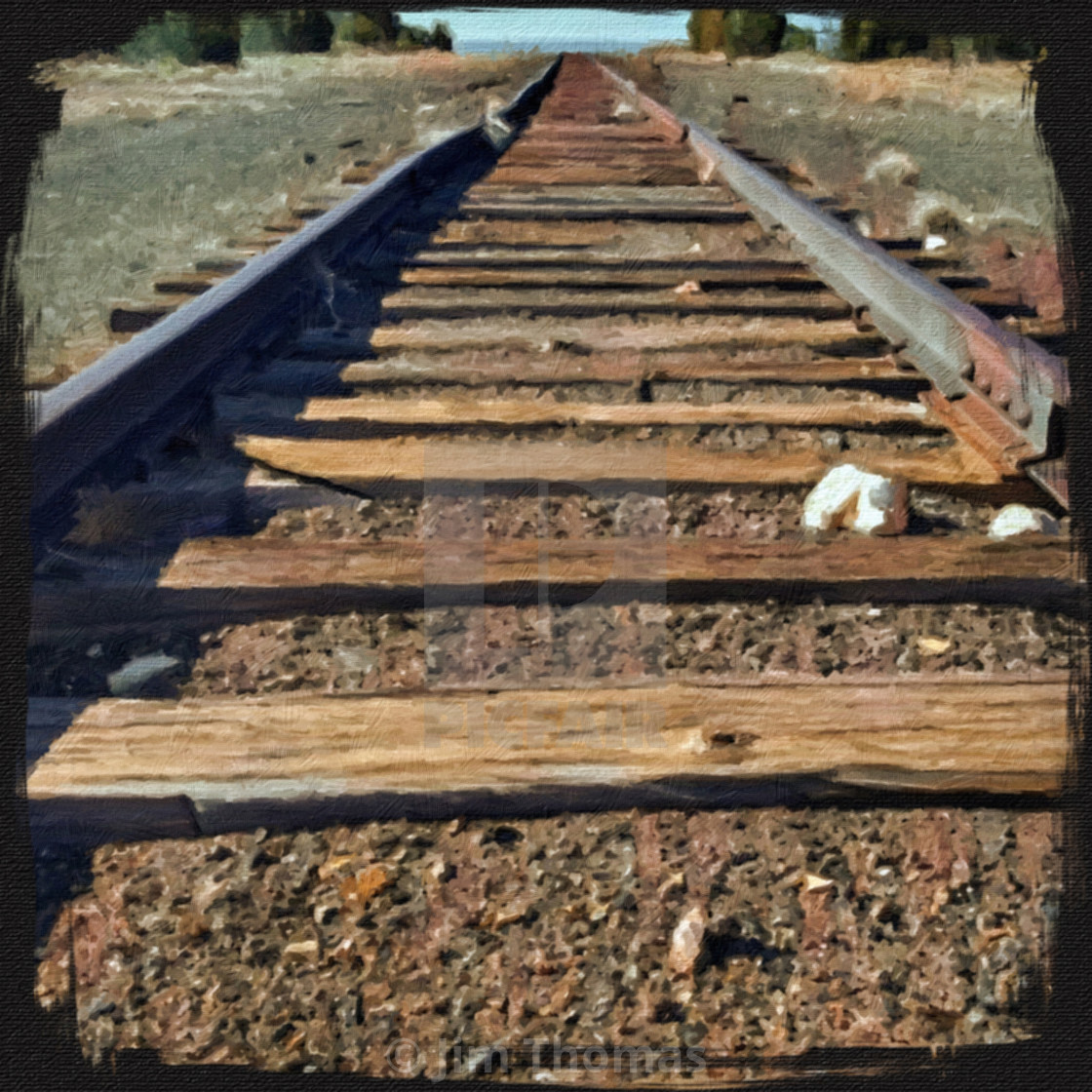 Abandoned Train Tracks - License, download or print for