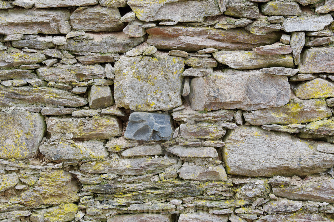 """Old stone wall with scratches as texture"" stock image"