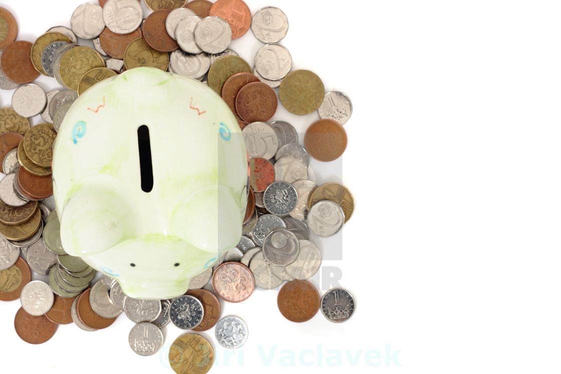 """""""czech savings isolated on the white bacground"""" stock image"""
