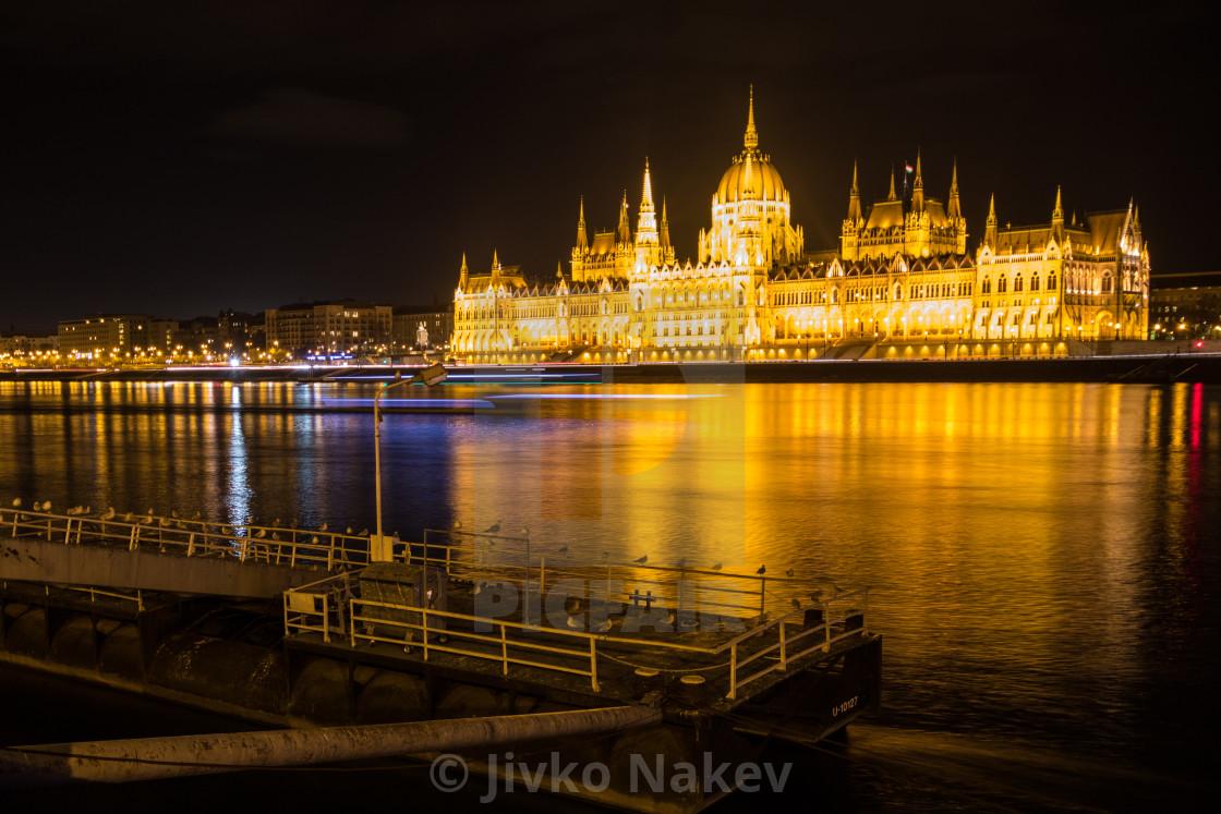 """Budapest Night View Parliament"" stock image"