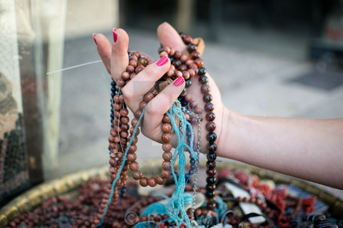 """Forgotten Bedouin necklaces"" stock image"