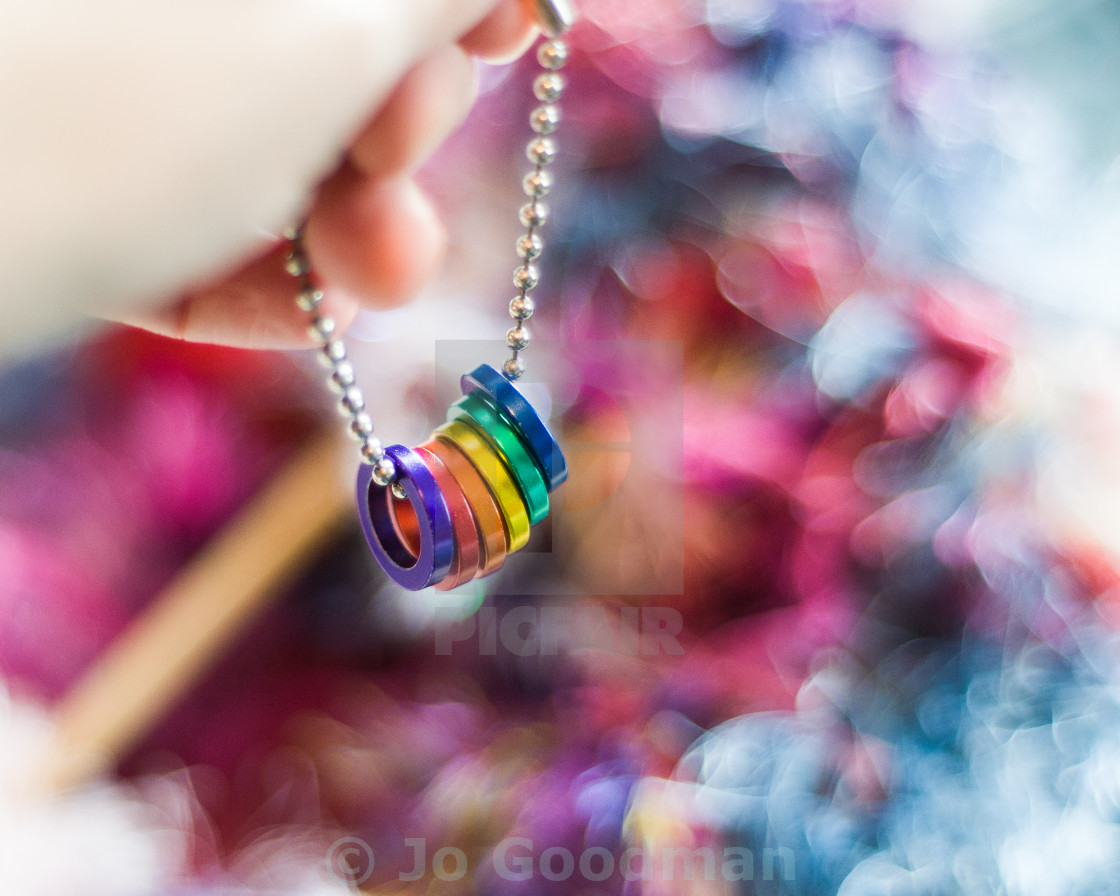 """Rainbow Rings"" stock image"