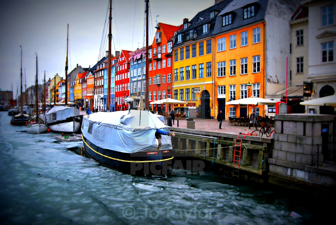 """The colourful houses of Scandinavia"" stock image"