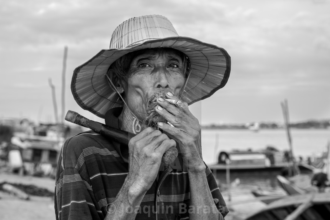 """Cham fisherman"" stock image"