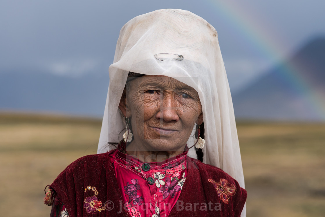 """Kyrgyz woman"" stock image"